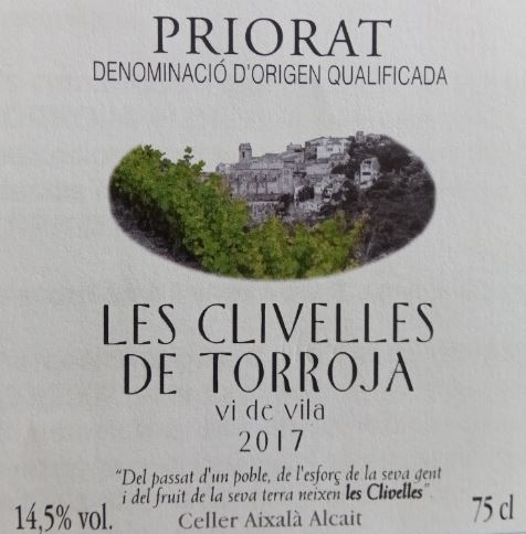 Les Clivelles de Torroja - Vi de Vila
