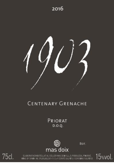 1903 Centenary Grenache