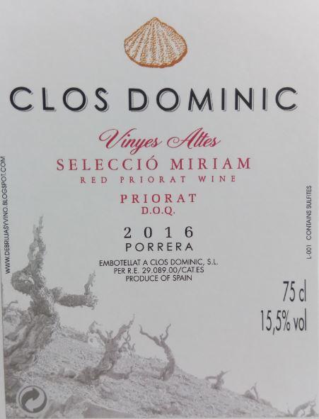 Clos Dominic Vinyes Altes Selecció Miriam